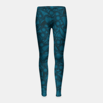 Thumbnail image of All The Right Chess Moves Girl's Leggings, Live Heroes