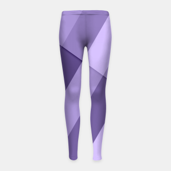 Thumbnail image of Ultra violet purple modern geometric lines Girl's Leggings, Live Heroes