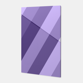 Thumbnail image of Ultra violet purple modern geometric lines Canvas, Live Heroes