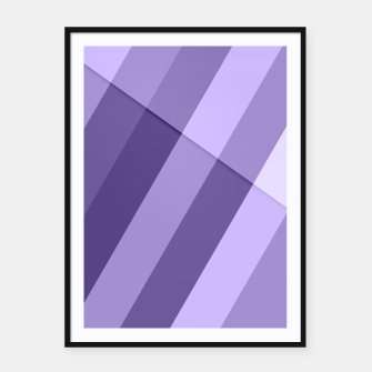 Thumbnail image of Ultra violet purple modern geometric lines Framed poster, Live Heroes