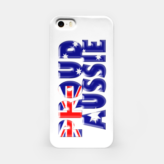 Miniatur proud Aussie iPhone Case, Live Heroes
