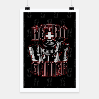 Thumbnail image of Chess Retro Gamer Poster, Live Heroes
