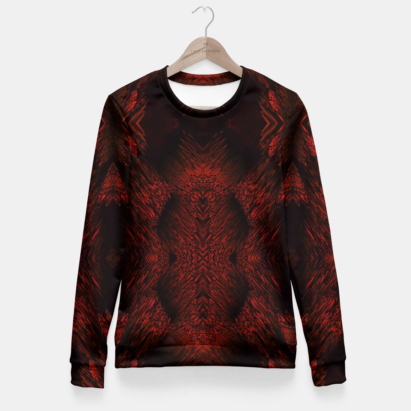 Blood Red Fitted Waist Sweater, Live Heroes