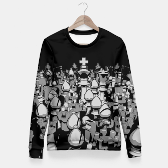 Thumbnail image of The Chess Crowd Fitted Waist Sweater, Live Heroes