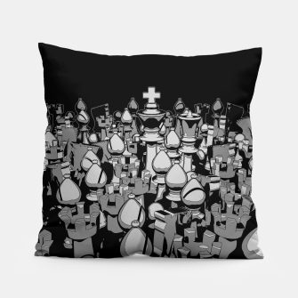 The Chess Crowd Pillow thumbnail image