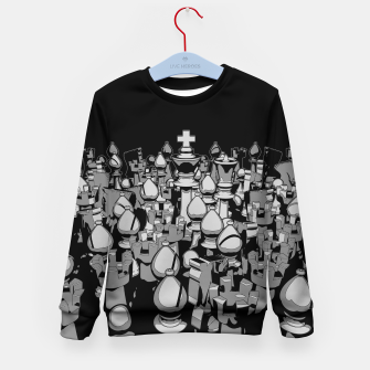 Thumbnail image of The Chess Crowd Kid's Sweater, Live Heroes