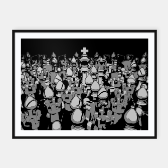 Thumbnail image of The Chess Crowd Framed poster, Live Heroes