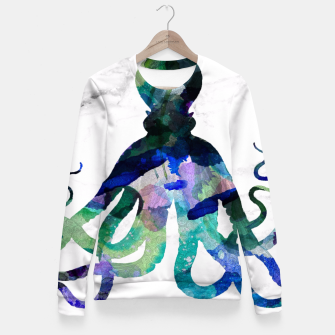 Thumbnail image of Watercolour Octopus Fitted Waist Sweater, Live Heroes