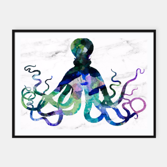 Thumbnail image of Watercolour Octopus Framed poster, Live Heroes