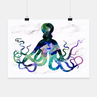 Thumbnail image of Watercolour Octopus Poster, Live Heroes