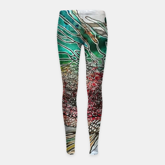 Thumbnail image of Fishytale Girl's Leggings, Live Heroes