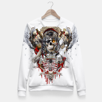 Thumbnail image of Pirate Skull Fitted Waist Sweater, Live Heroes