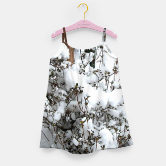 Thumbnail image of Snow Abstract Little Girls Dress, Live Heroes