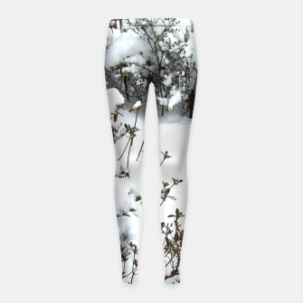Thumbnail image of Snow Abstract Girls Leggings, Live Heroes