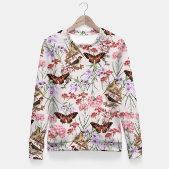 Miniatur Floral Fantasy Fitted Waist Sweater, Live Heroes