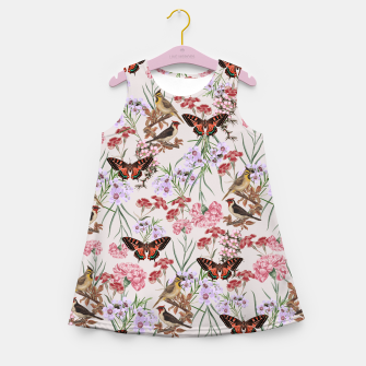 Miniatur Floral Fantasy Girl's Summer Dress, Live Heroes