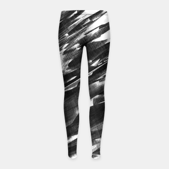 Thumbnail image of Grayscale Girl's Leggings, Live Heroes