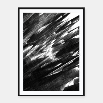 Thumbnail image of Grayscale Framed poster, Live Heroes