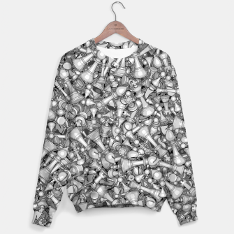 Thumbnail image of Blitz Chess B&W Sweater, Live Heroes