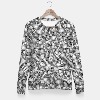 Thumbnail image of Blitz Chess B&W Fitted Waist Sweater, Live Heroes