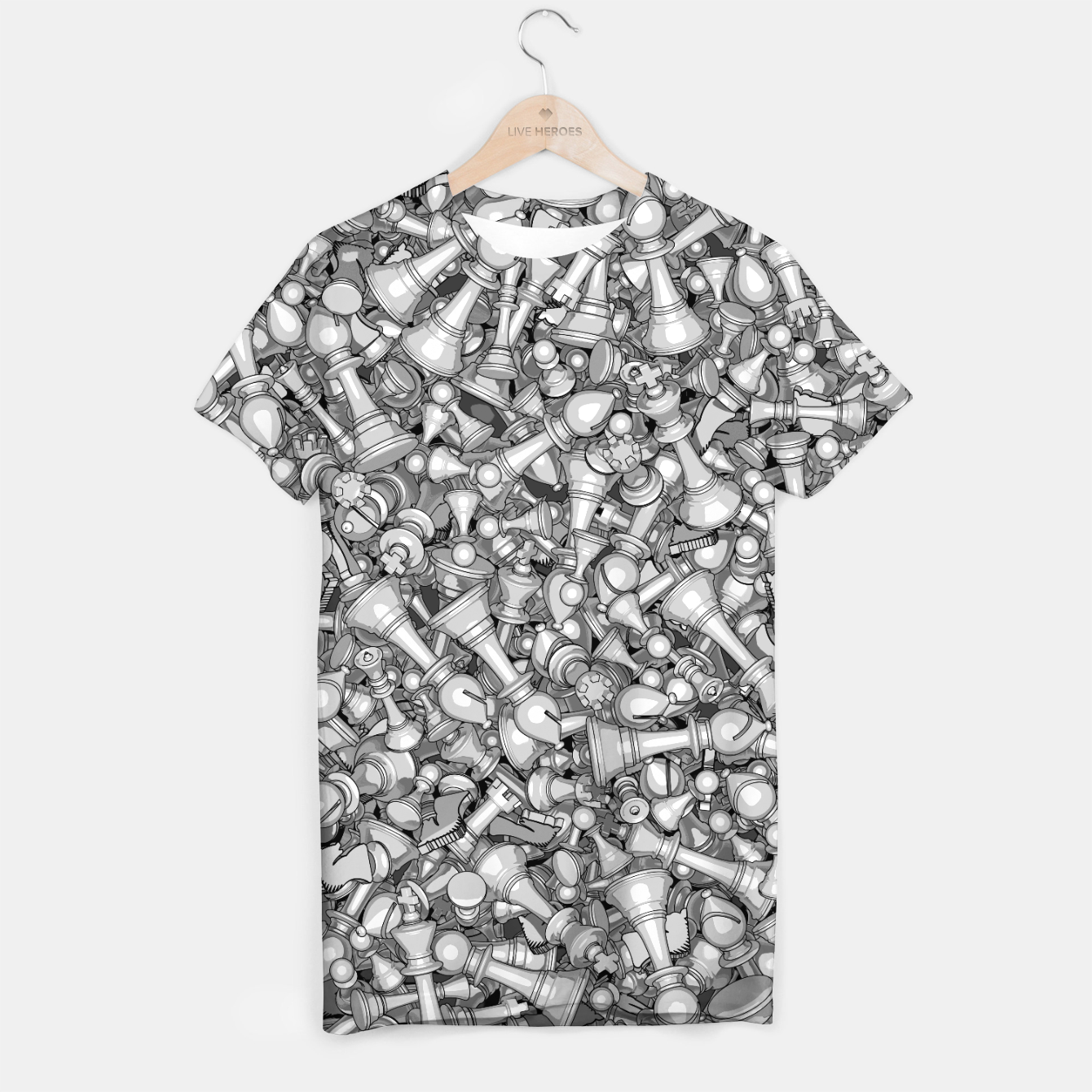 Image of Blitz Chess B&W T-shirt - Live Heroes