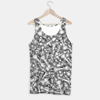 Thumbnail image of Blitz Chess B&W Tank Top, Live Heroes