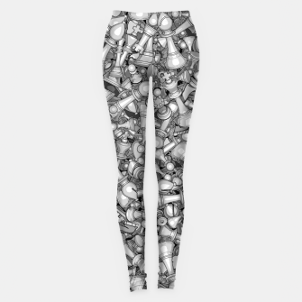 Thumbnail image of Blitz Chess B&W Leggings, Live Heroes