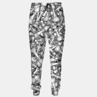 Thumbnail image of Blitz Chess B&W Sweatpants, Live Heroes