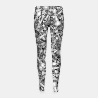 Thumbnail image of Blitz Chess B&W Girl's Leggings, Live Heroes