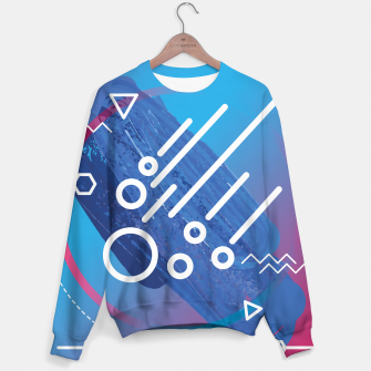 Thumbnail image of Abstract digital art Sweater, Live Heroes