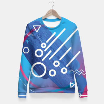 Thumbnail image of Abstract digital art Fitted Waist Sweater, Live Heroes
