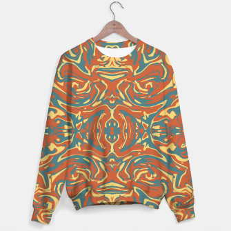 Multicolored Abstract Ornate Pattern Sweater thumbnail image