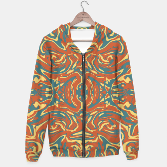 Multicolored Abstract Ornate Pattern Hoodie thumbnail image