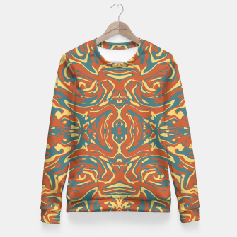 Multicolored Abstract Ornate Pattern Fitted Waist Sweater thumbnail image