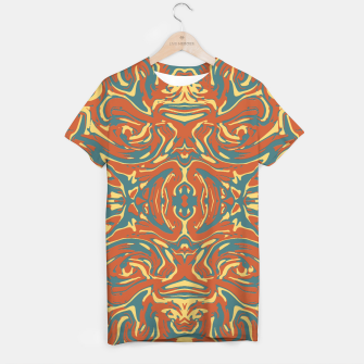 Multicolored Abstract Ornate Pattern T-shirt thumbnail image