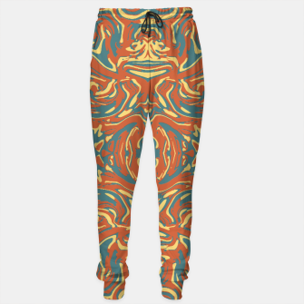 Multicolored Abstract Ornate Pattern Sweatpants thumbnail image