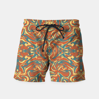 Multicolored Abstract Ornate Pattern Swim Shorts thumbnail image