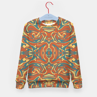 Multicolored Abstract Ornate Pattern Kid's Sweater thumbnail image