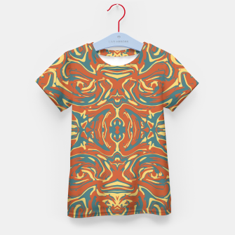 Multicolored Abstract Ornate Pattern Kid's T-shirt thumbnail image