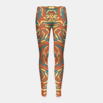 Multicolored Abstract Ornate Pattern Girl's Leggings thumbnail image