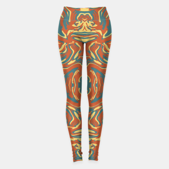 Multicolored Abstract Ornate Pattern Leggings thumbnail image