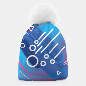 Thumbnail image of Abstract digital art Beanie, Live Heroes