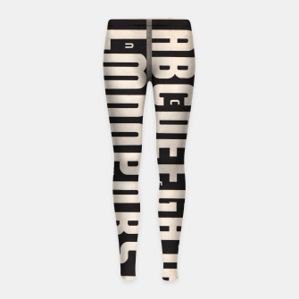 Thumbnail image of Gothic Cut Typo Girl's Leggings, Live Heroes