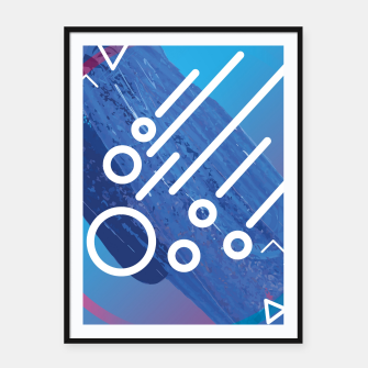 Thumbnail image of Abstract digital art Framed poster, Live Heroes