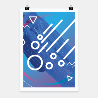 Thumbnail image of Abstract digital art Poster, Live Heroes