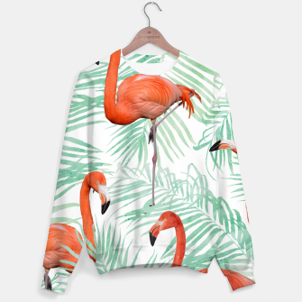 Thumbnail image of Flamingo & Mint Palm Sweater, Live Heroes
