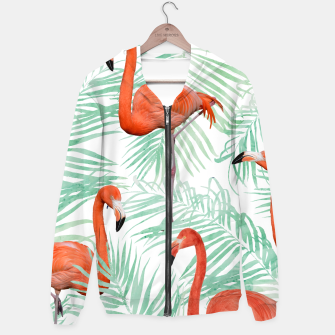 Thumbnail image of Flamingo & Mint Palm Hoodie, Live Heroes