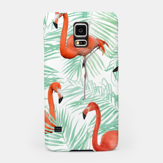 Thumbnail image of Flamingo & Mint Palm Samsung Case, Live Heroes