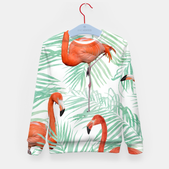 Thumbnail image of Flamingo & Mint Palm Kid's Sweater, Live Heroes