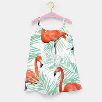 Thumbnail image of Flamingo & Mint Palm Girl's Dress, Live Heroes